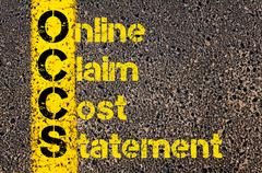 Accounting Business Acronym OCCS Online Claim Cost Statement Stock Photos