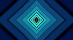 Blue Diamond Shape Loop abstract Stock Footage