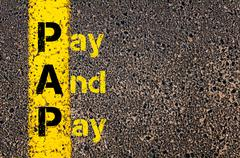Accounting Business Acronym PAP Pay And Pay - stock photo