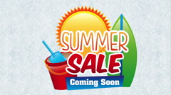 Summer sale desing, Video Animation Stock Footage