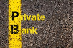 Accounting Business Acronym PB Private Bank Stock Photos