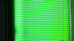 Closed venetian blind Stock Footage