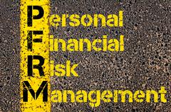 Accounting Business Acronym PFRM Promotion Funds Revenue Management - stock photo