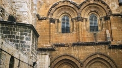 Church of the Holy Sepulchre Entrance. Stock Footage