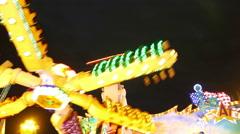 4K UHD TL Oktoberfest Fairground Carousel Chairoplane German Munich Beer Stock Footage