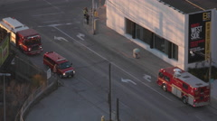 Fire Trucks from Above. Stock Footage