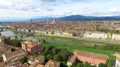 Flight over Florence, Italy Stock Footage
