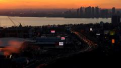 Time lapse Sunset Traffic Stock Footage
