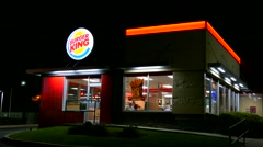 Burger King new storefront restaurant Stock Footage