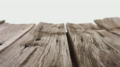Old wooden empty table dolly-shot 4k - stock footage