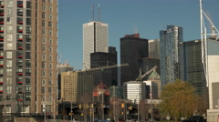 Toronto Skyline from the Waterfront Stock Footage