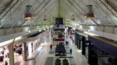 Shopper inside Coquitlam Center shopping mall Arkistovideo