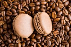 macarons with coffee flavor - stock photo