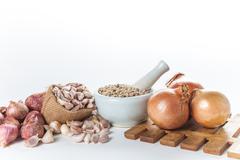 Set of cooking ingredient - stock photo