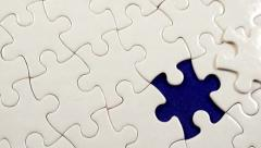 Puzzle piece background. 4K UHD. Stock Footage