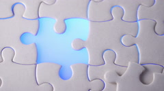 Final puzzle. Close up. Stock Footage