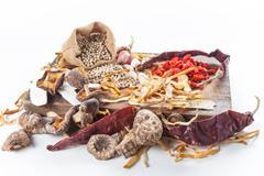 Set of cooking ingredient Stock Photos
