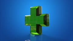 Pharmacy blue background - stock footage