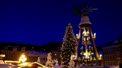 Annaberg-Buchholz christmas market Stock Footage