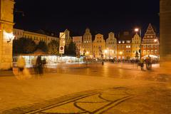 Salt Square in Wroclaw at Night - stock photo