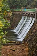 Dam on Lomnica River in Karpacz Stock Photos