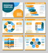 Infographic Presentation Set - stock illustration