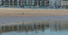 Playing at the Seaside Time Lapse Stock Footage