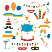 Holiday Celebration Set Stock Illustration