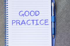 Good practice write on notebook Stock Photos