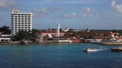 Cozumel Mexico cruise ship tourist marina tour boat 4K Stock Footage