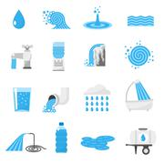 Stock Illustration of Water icons set