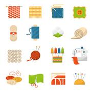 Stock Illustration of Textile Industry Icons