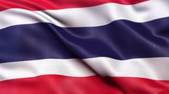 4K Thailand flag seamless loop Ultra-HD Stock Footage