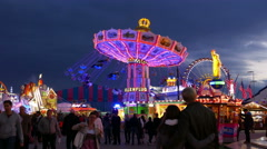 Stock Video Footage of 4K UHD Oktoberfest carousel Fairground German Munich Beer Festival Germany