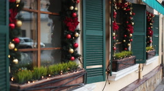 Christmas street decor Stock Footage