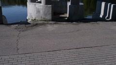 Rotunda in Yanka Kupala Park, Minsk, Belarus Stock Footage