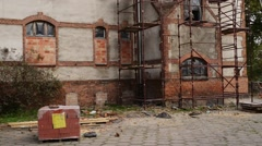 Teutonic castle in Sztum, Poland Stock Footage