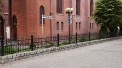 Lutheran Church of Christ in Olsztyn, Poland Stock Footage