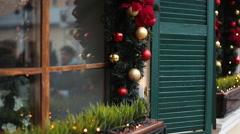 christmas street decor - stock footage