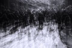 Overcrowded city on black friday Kuvituskuvat