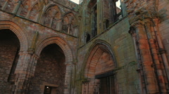 Ruins of Holyrood Abbey in Edinburgh, UK - Close-up Stock Footage