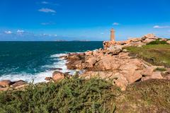 Atlantic ocean coast in Brittany Stock Photos