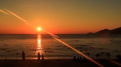 Fantastic turn around of sun beams sun-path across sea Stock Footage