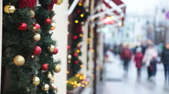 christmas street decor - stock footage