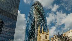 The Gherkin and The City Timelapse Stock Footage