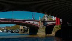 Nonstop POV Boat Trip Hyperlapse in the River Thames, London, UK Stock Footage