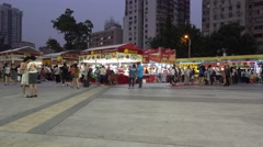 Food festival in guangzhou Stock Footage
