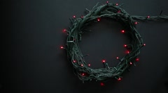 Christmas lamp garland motion on a black background - stock footage