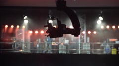 The camera on the camera crane moves in concert Stock Footage