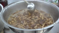 beef offal,canton cuisine - stock footage